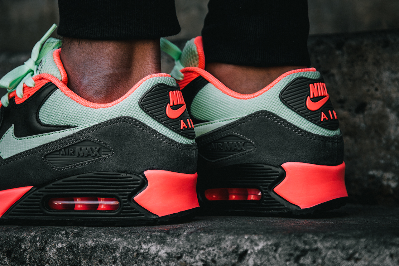 cheap for discount 76907 c759b air max 90 infrared olive et orange