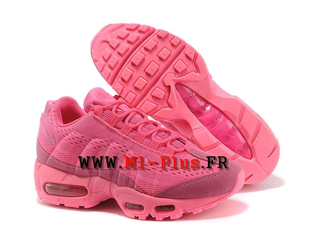 detailed look dc218 94e83 nike air max 95 pour femme rose et bleu