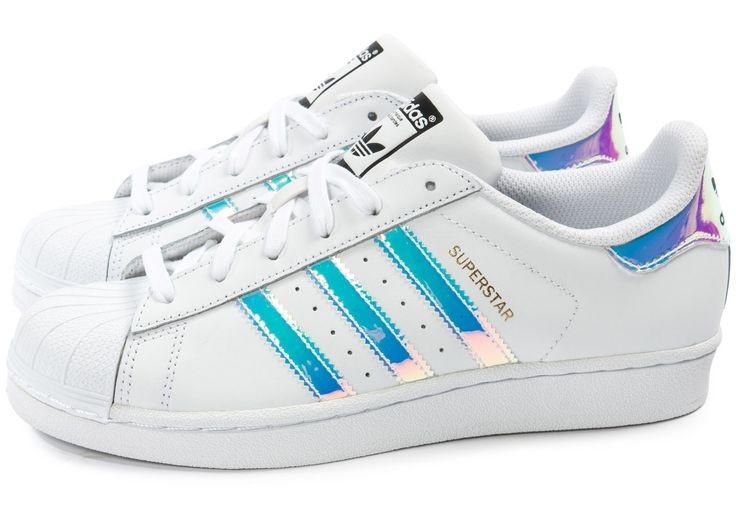 adidas superstar femme blanc laser