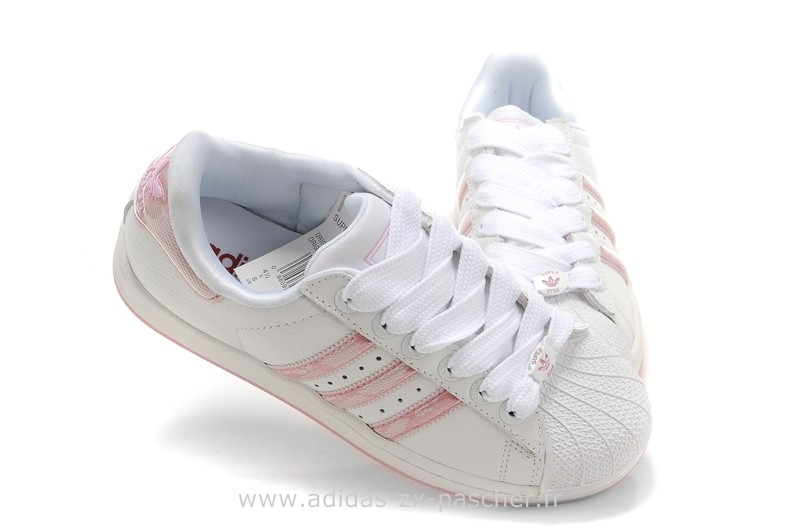 adidas superstar femme rose pale et blanche