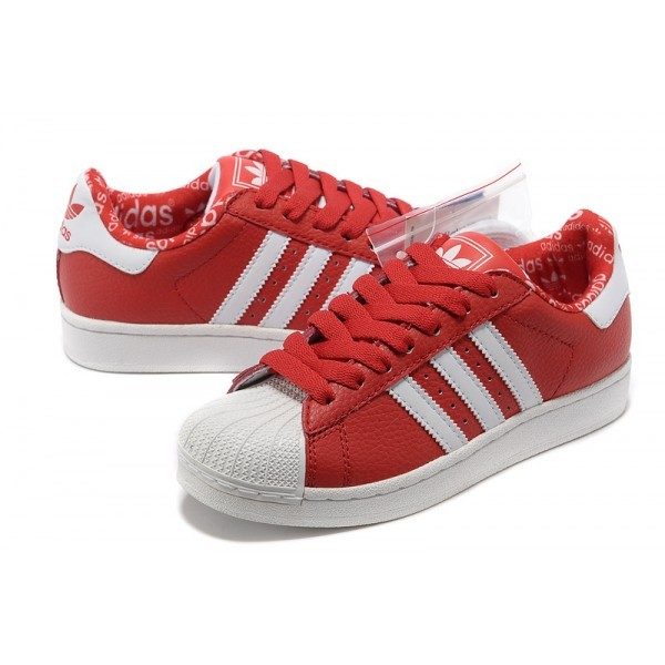 adidas homme superstar rouge