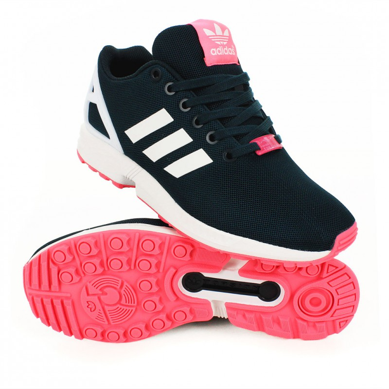 adidas zx flux noir or rose