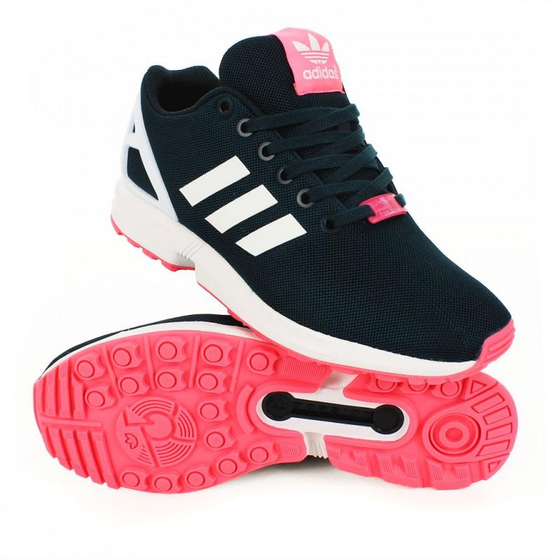 new product a530e 2a8bf Flux Rose Baskets W Adidas Noir Femme Zx FxF1CnZW